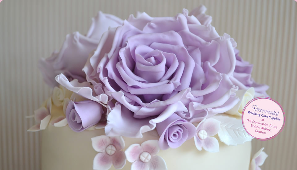 Fabulous Lilac Wedding Cake by Homebaked Heaven of Harrogate, North Yorkshire