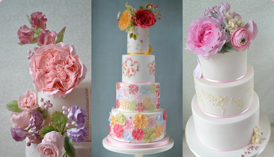 Stunning Wedding Cakes and Cupcakes by Homebaked Heaven of Harrogate, North Yorkshire
